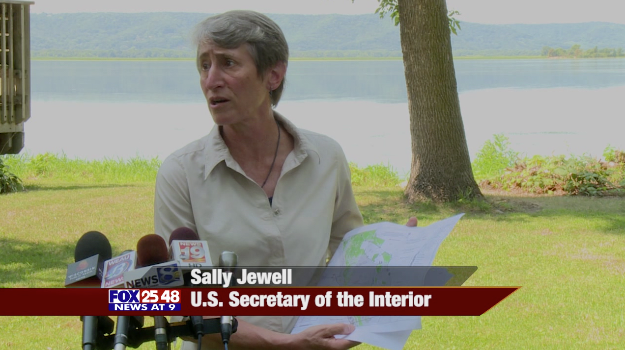 US Secretary of the Interior Sally Jewell visits La Crosse