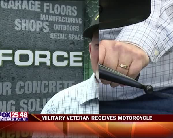 Military Veteran Receives Motorcycle_90406503