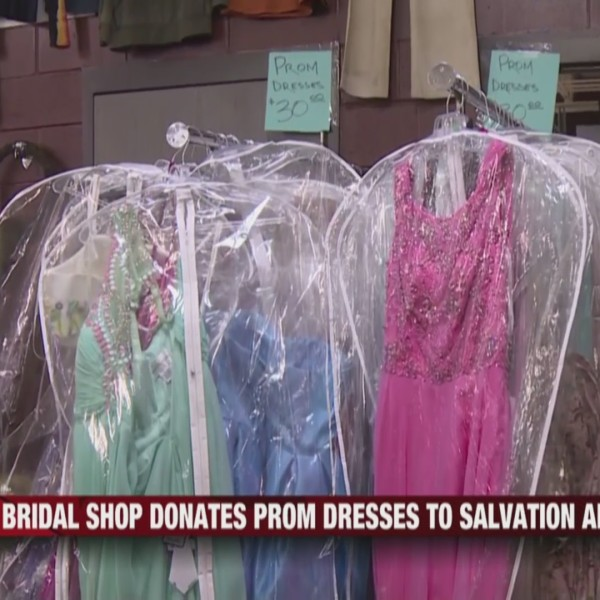 Bridal Shop Donates Prom Dresses to Salvation Army