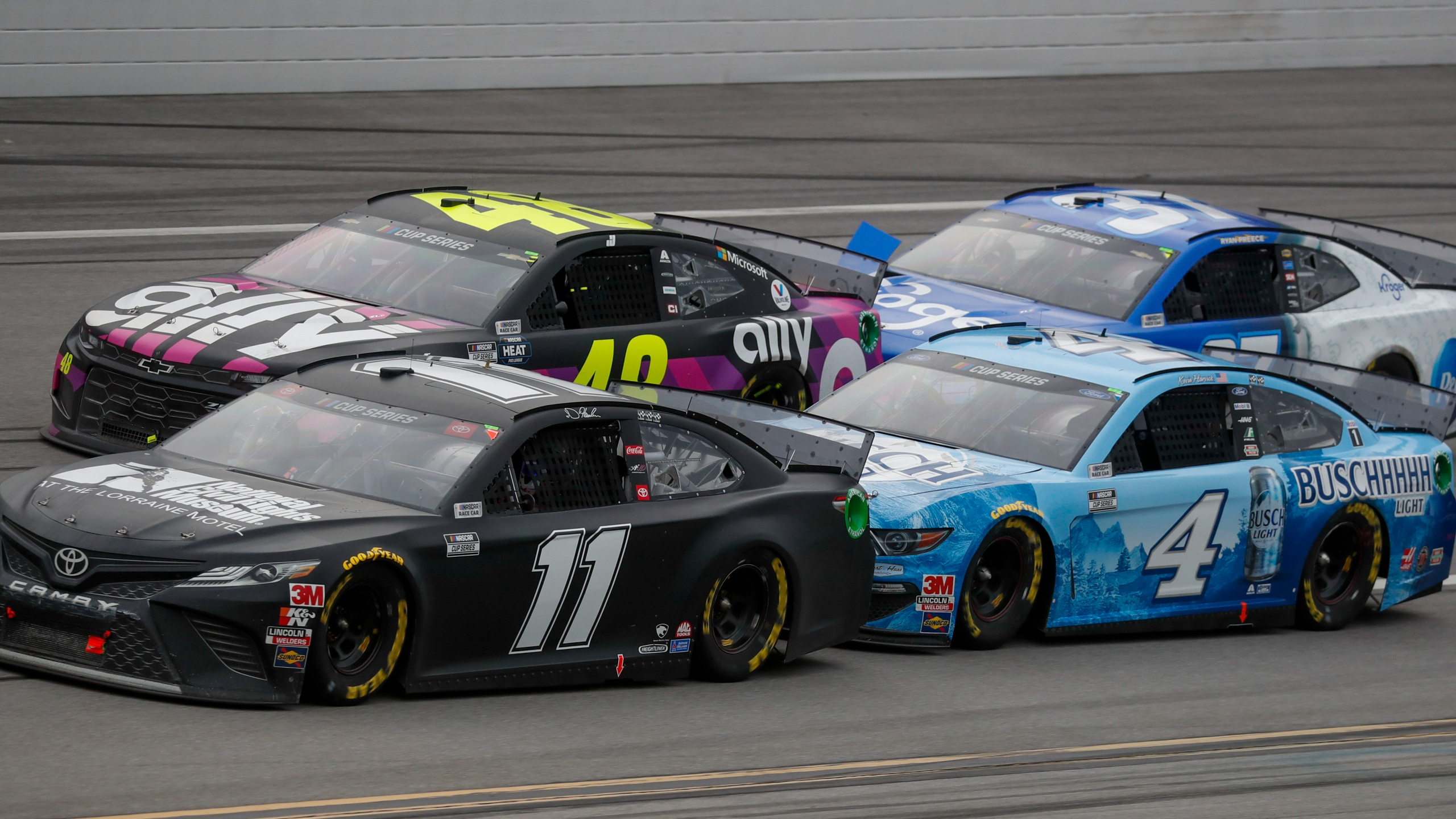 Denny Hamlin, Jimmie Johnson, Kevin Harvick