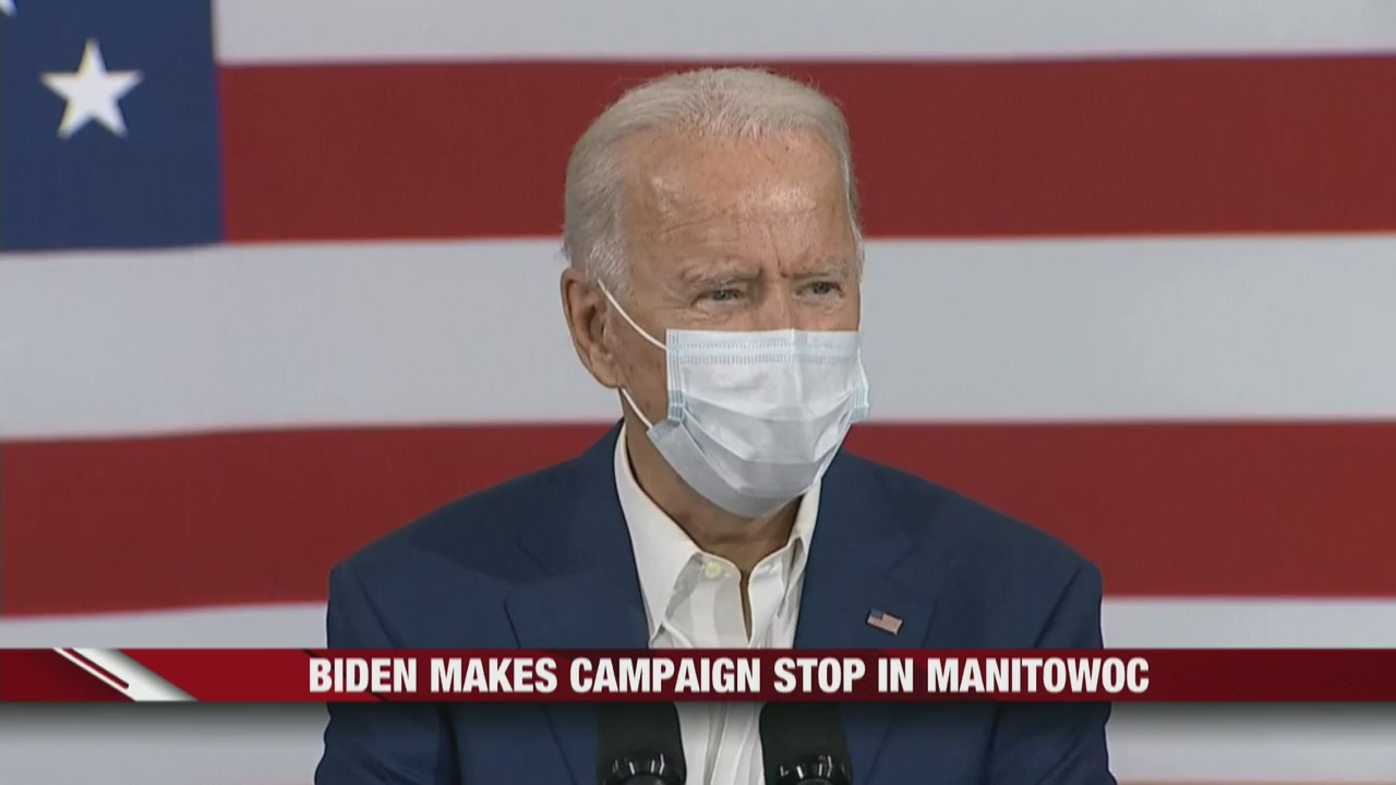 Biden makes campaign stop in Manitowoc