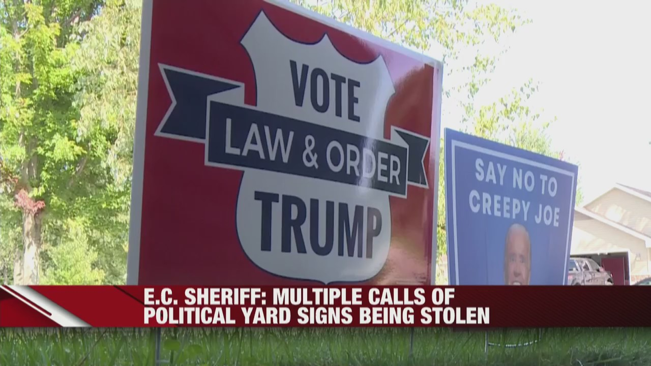 Eau Claire County Sheriff discusses stolen political yard signs