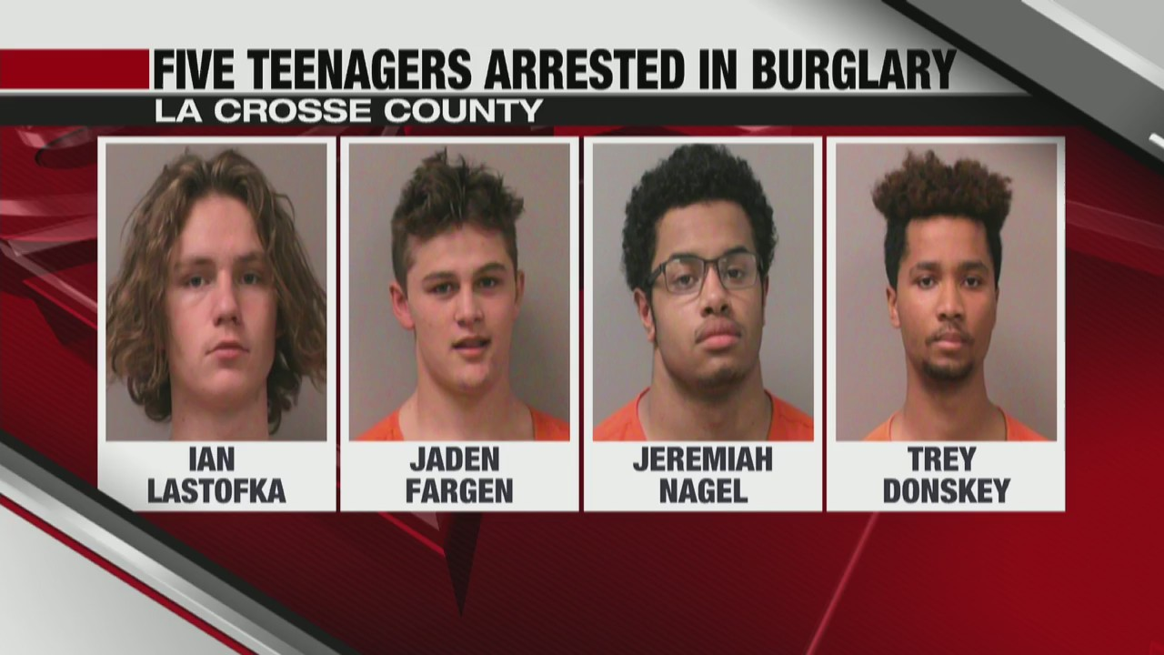 Five teenagers arrested in burglary La Crosse County