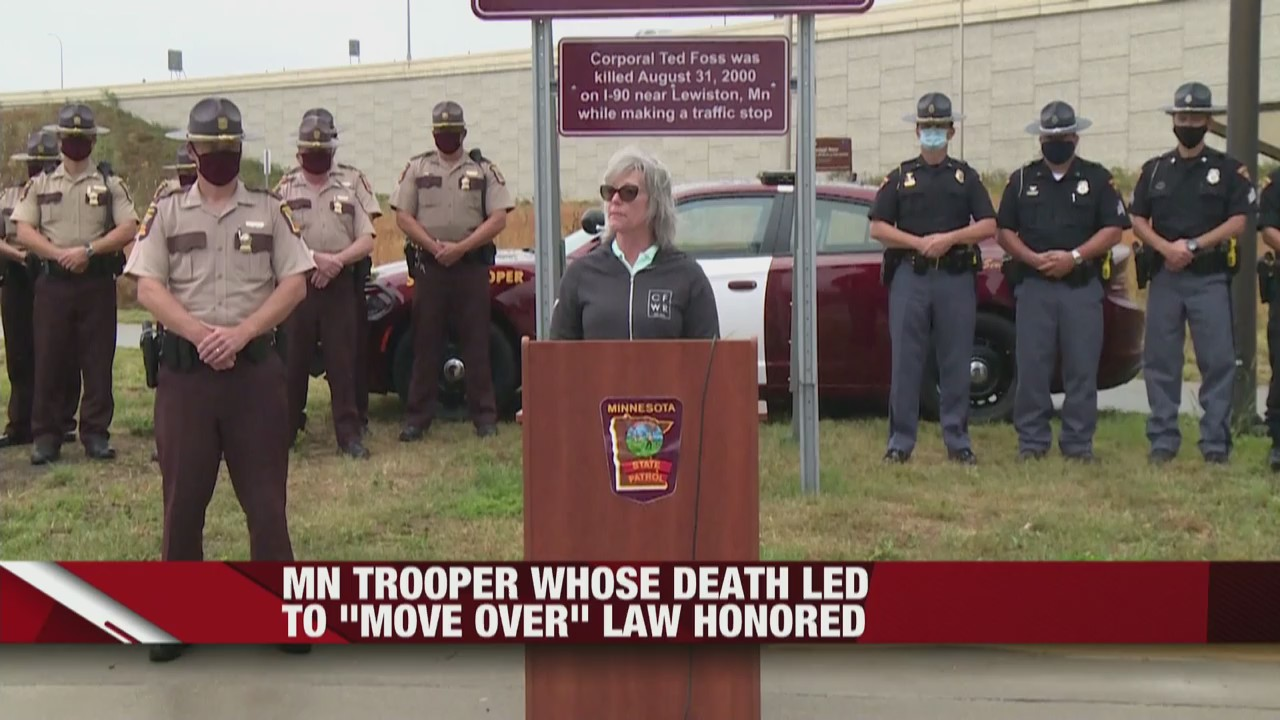 Honoring Minnesota State Trooper, Ted Foss, whose death led to Move Over Law