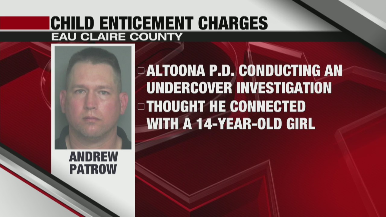 Man charged for child enticement in Eau Claire County
