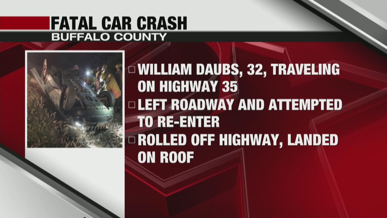 Man dies in fatal car crash in Buffalo County