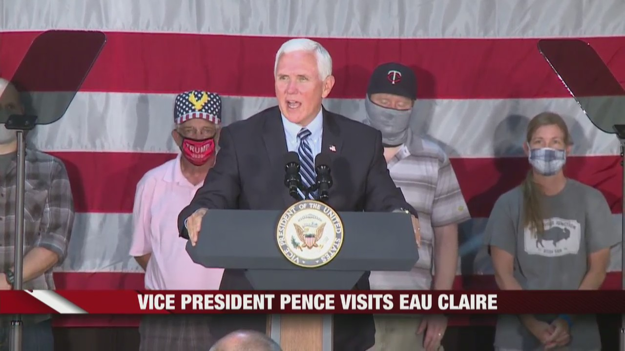 Vice President Mike Pence visits Eau Claire, covering a variety of topics