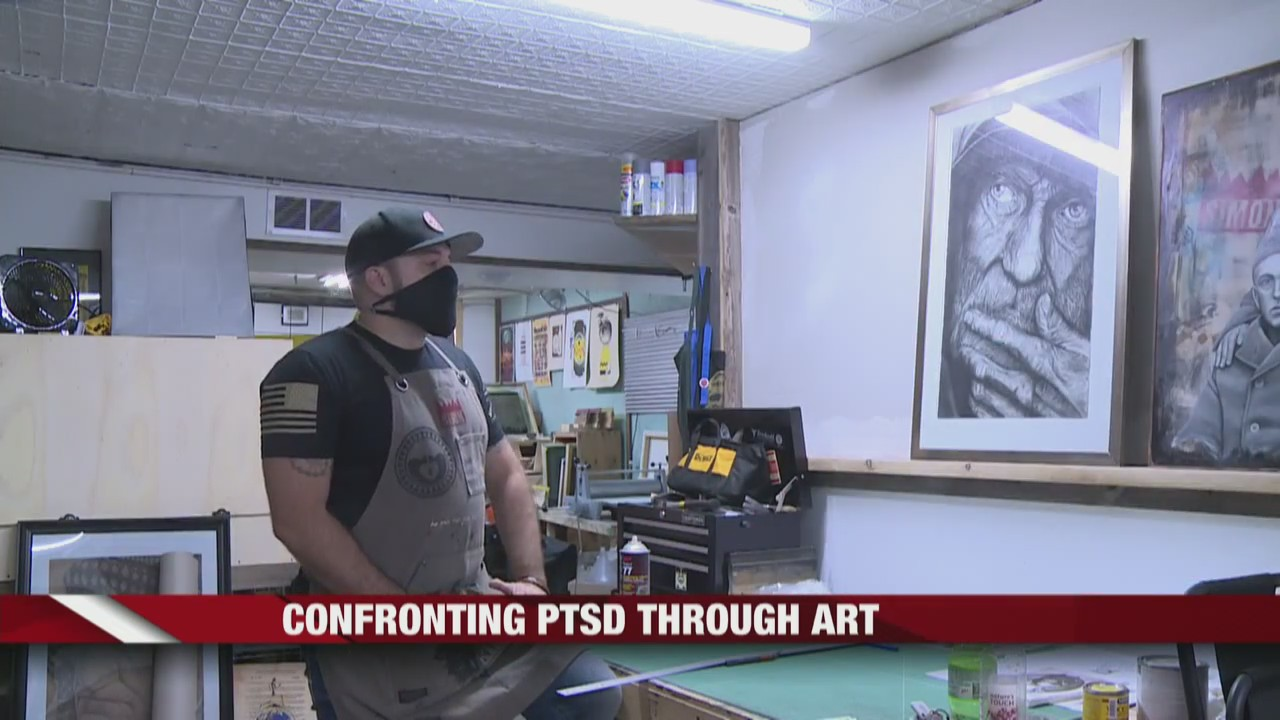 Well-known Clark County Veteran Artist uses art to cope with PTSD