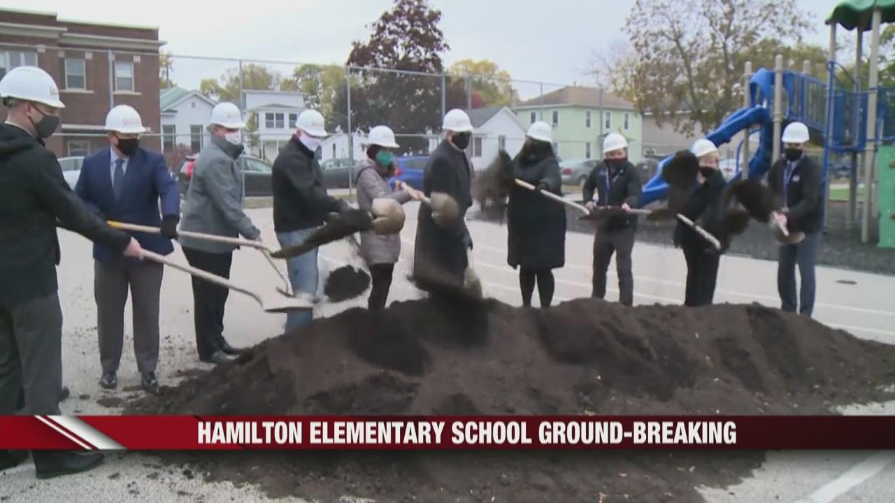 4.8 million dollar expansion to Hamilton Elementary breaks ground