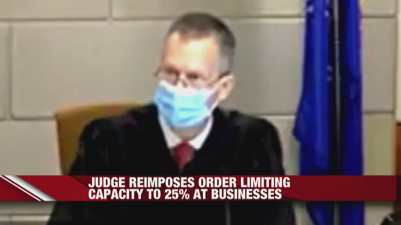 Barron County Judge reimposes order limiting capacity to 25% at businesses