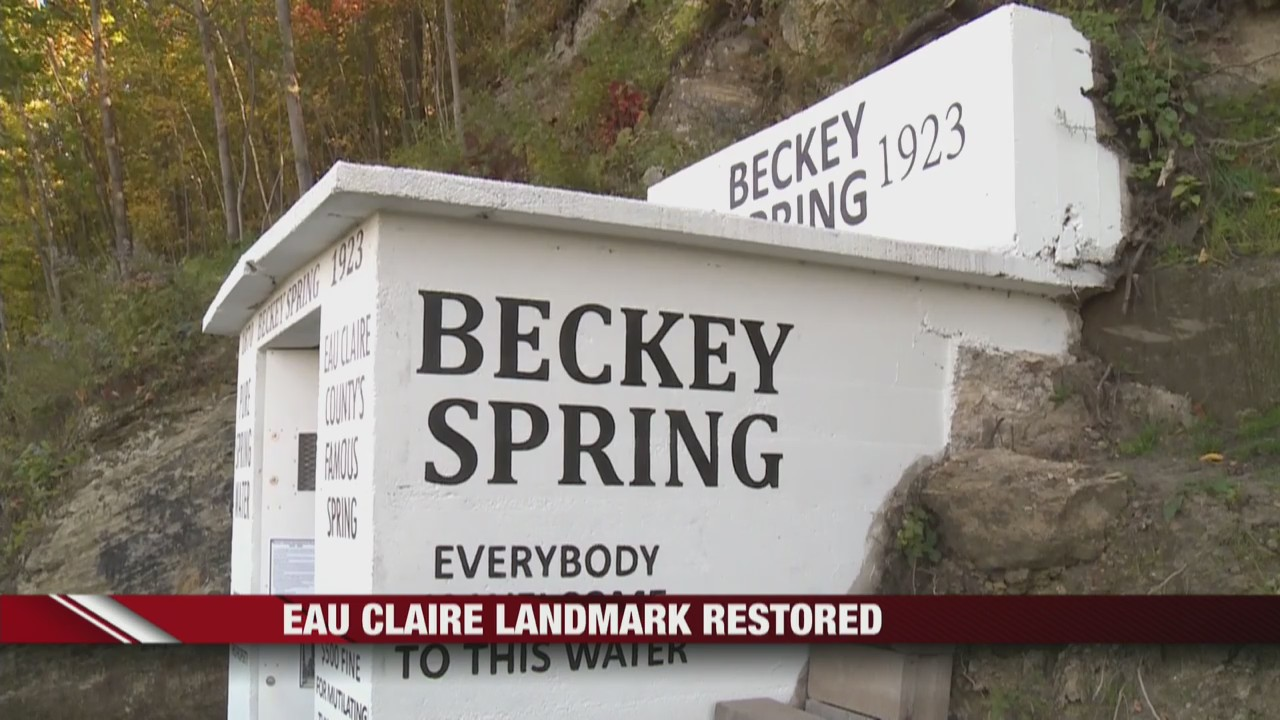 Beckey Spring, a Chippewa Valley landmark, restored by locals