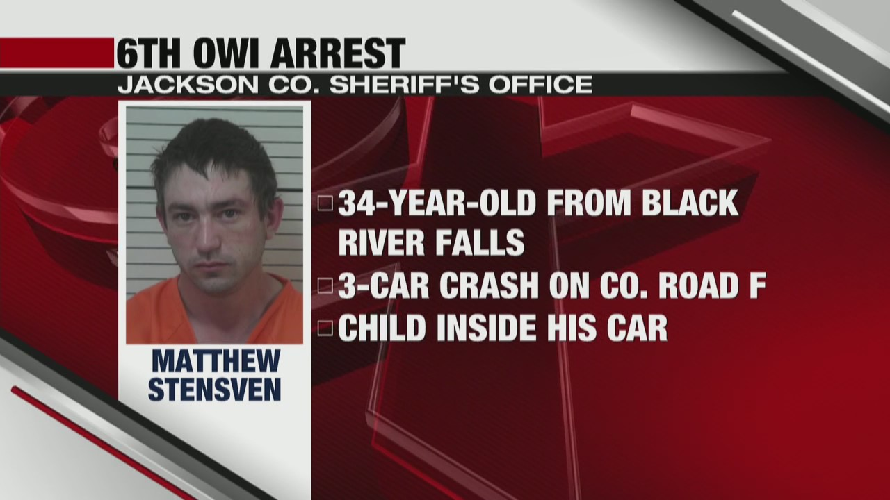 Black River Falls man in custody after drunk driving crash with child in the car