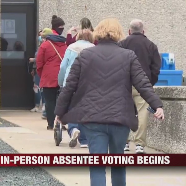 Drive-thru and in-person absentee voting begins