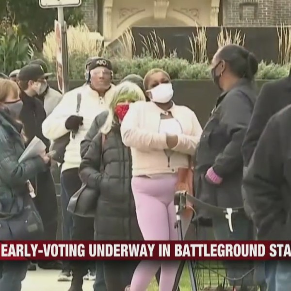 Early-voting underway in battleground states, Wisconsin being one