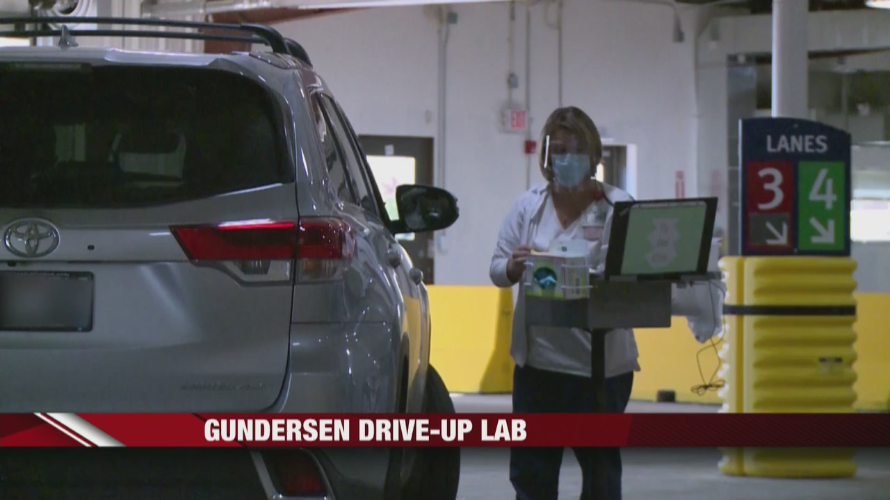 Gunderson Health System's drive-up lab sees large numbers