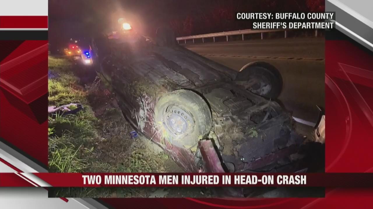 Head-on car crash leaves two men injured in Alma