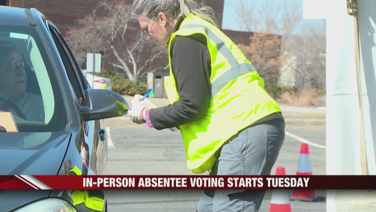 In-person absentee voting allows you to vote from your car in Eau Claire