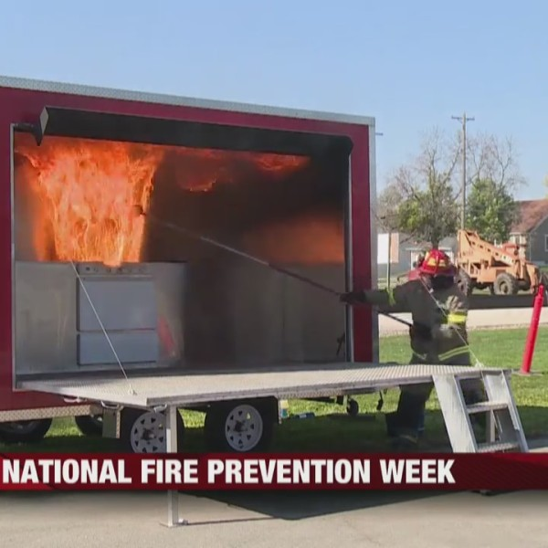 La Crosse Fire Department demonstrates kitchen fire during National Fire Prevention Week