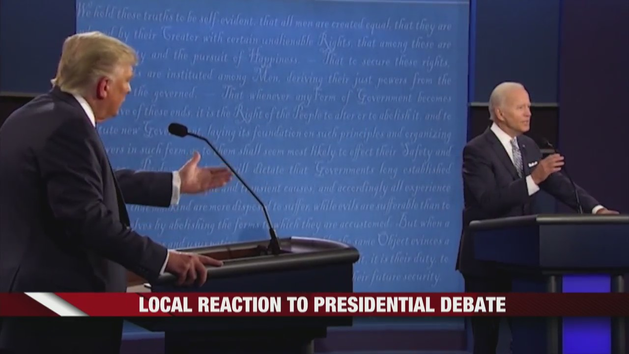 Local reactions to the fist Presidential Debate