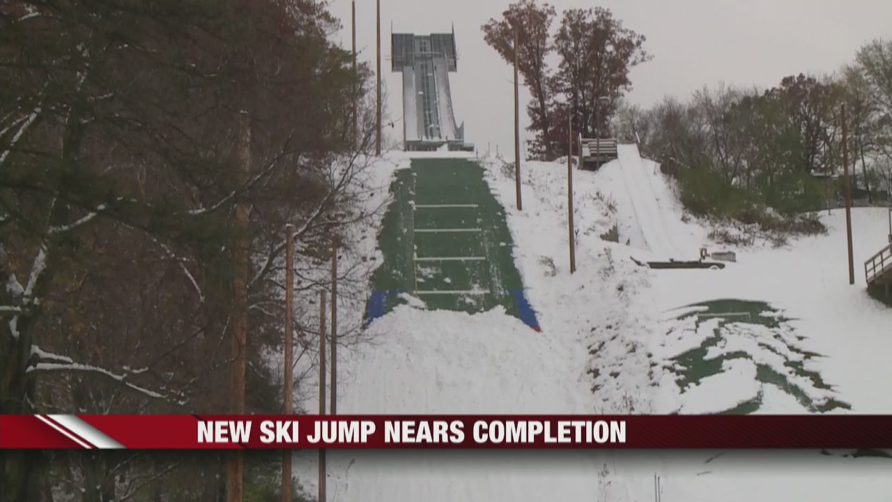 Mount Washington ski jump nears completion in Eau Claire