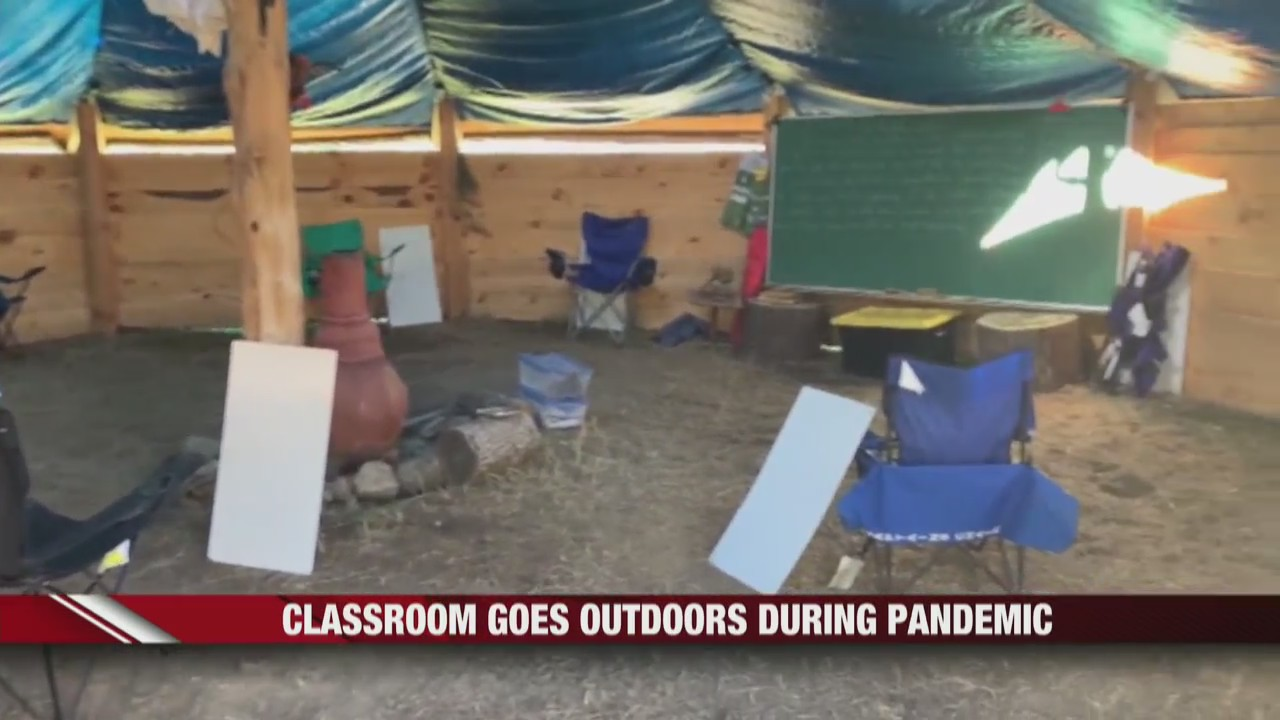 Pewaukee builds outdoor classrooms during pandemic