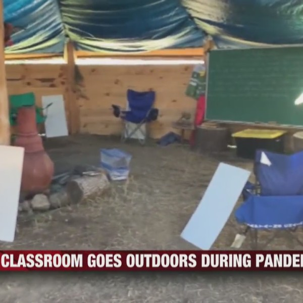 Pewaukee builds outdoor classrooms during pandemic