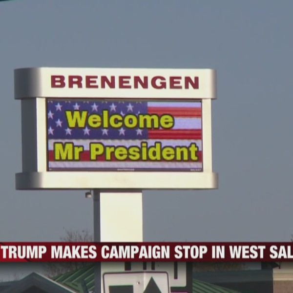 President Trump makes campaign stop in West Salem