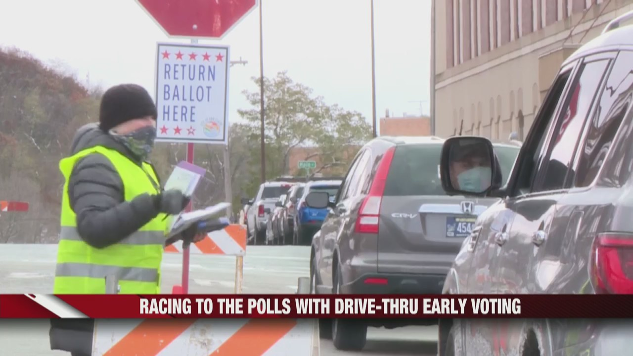 Racing to the polls with drive-thru early voting in Wisconsin