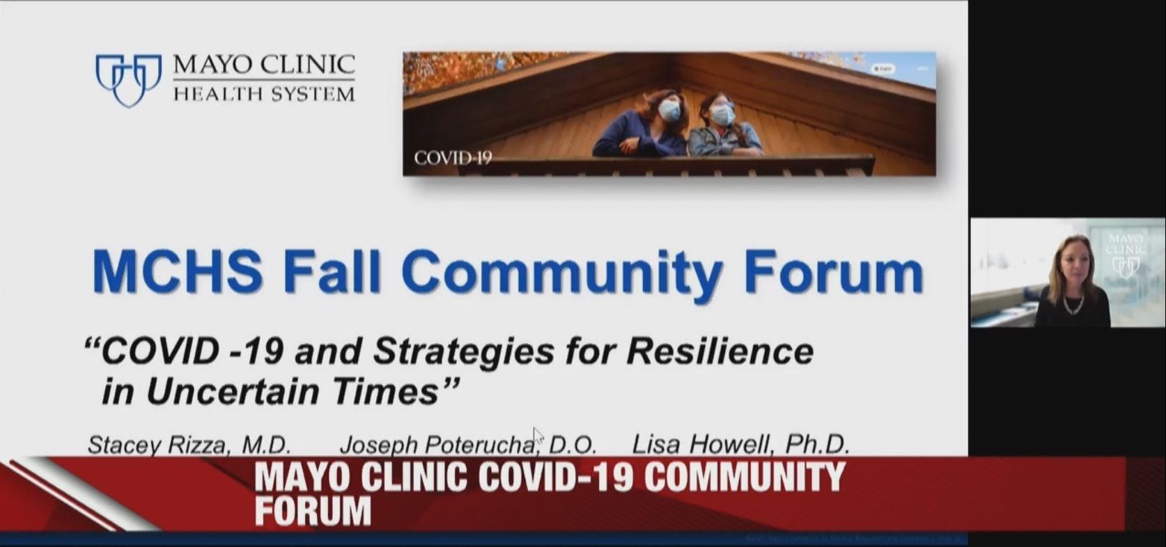 Mayo Clinic COVID-19 community forum
