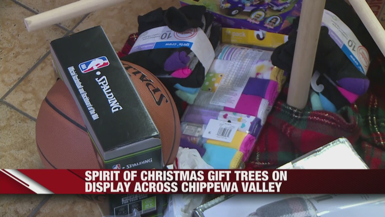 Spirit of Christmas gift trees on display across Chippewa Valley