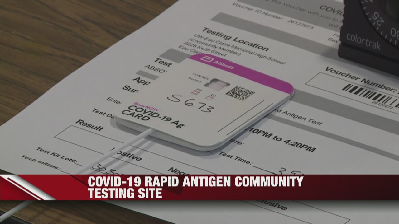 UW-Eau Claire organizes free COVID-19 rapid antigen testing site for the community