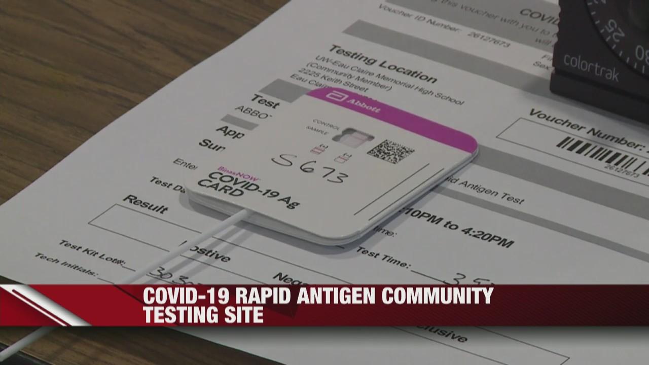 UW-Eau Claire organizes free COVID-19 rapid antigen testing site for the community