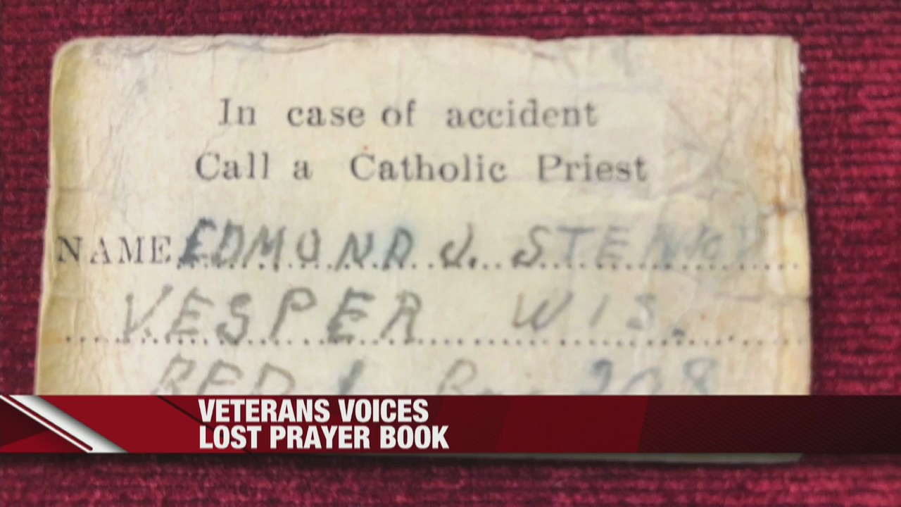 Veterans Voices lost prayer book is found and returned to Wisconsin family