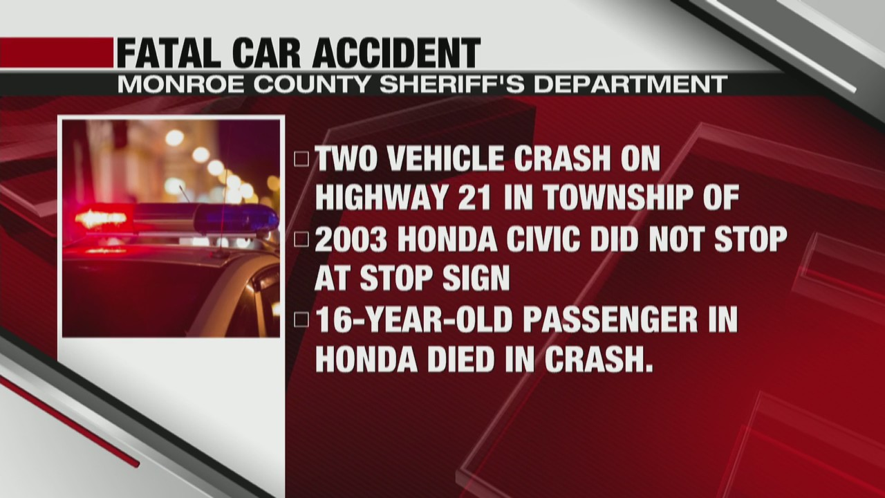 Fatal car accident occurs in Monroe County