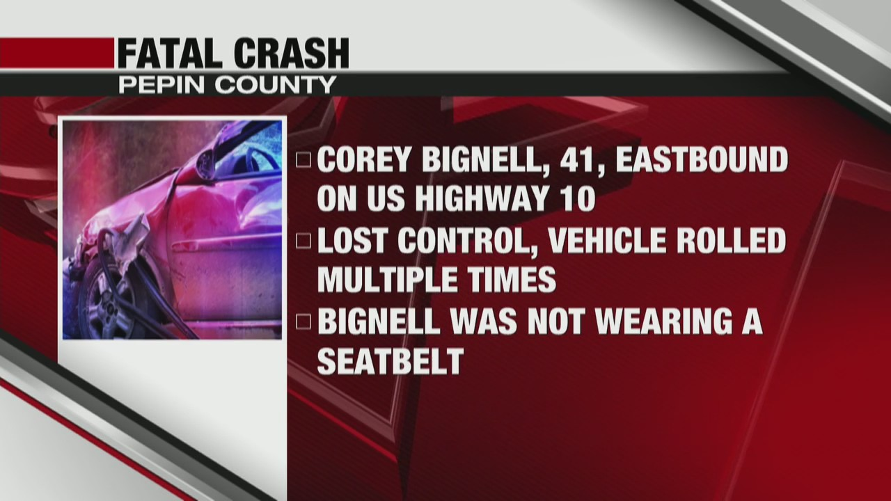 Man killed in Pepin County car crash