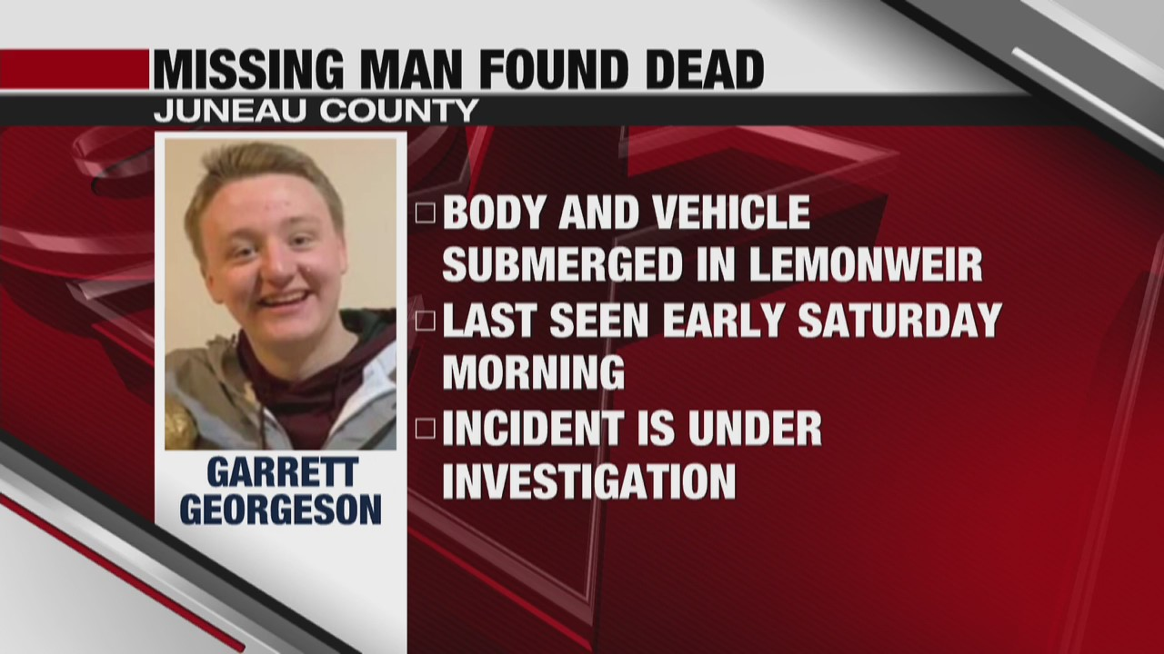 21-year-old missing Wisconsin man found dead in Juneau County