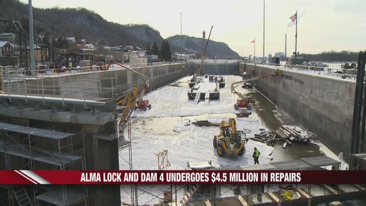 Alma Lock and Dam 4 undergoes $4.5 million in repairs