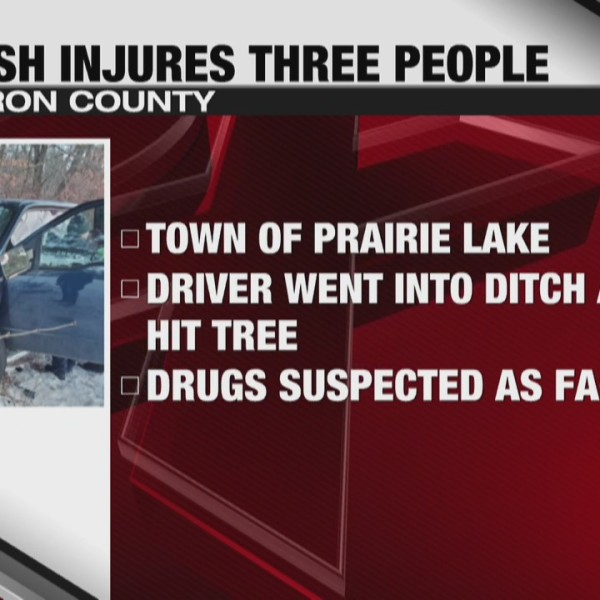 Barron County car crash injuries three people