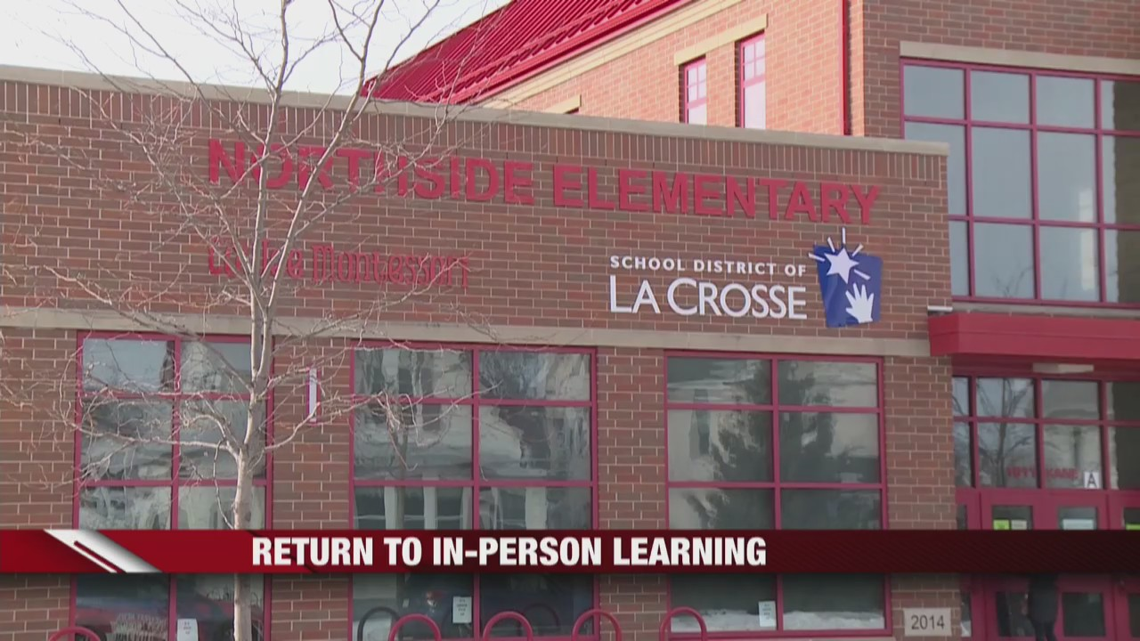 Elementary students return to in-person learning in the School District of La Crosse