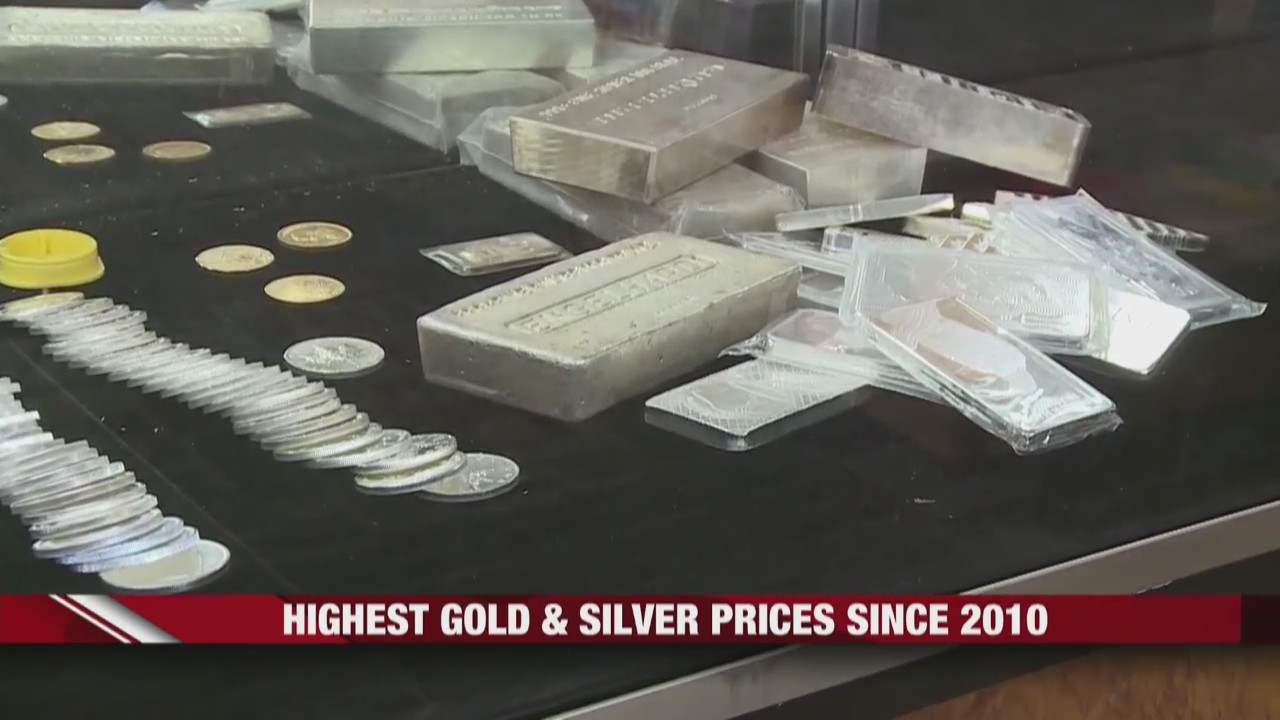 Highest gold and silver prices since 2010, due to pandemic
