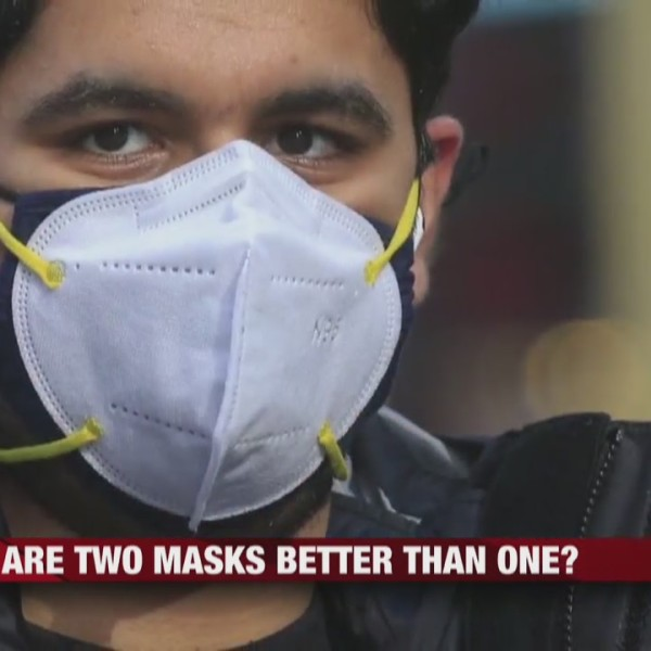 Local health professionals touch base on wearing two masks instead of one