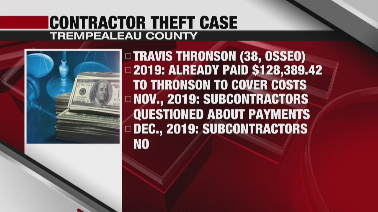 Trempealeau County general contractor charged with theft