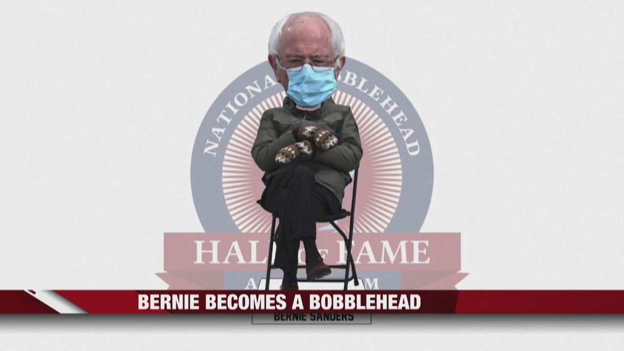Viral Bernie Sanders pose becomes a bobblehead