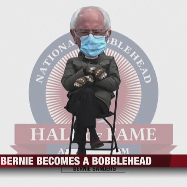 Viral Bernie Sanders pose becomes a bobblehead
