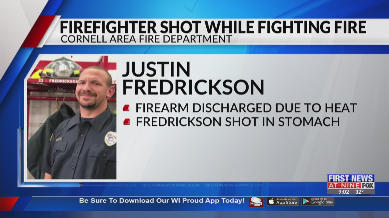 Cornell firefighter shot in stomach while fighting fire