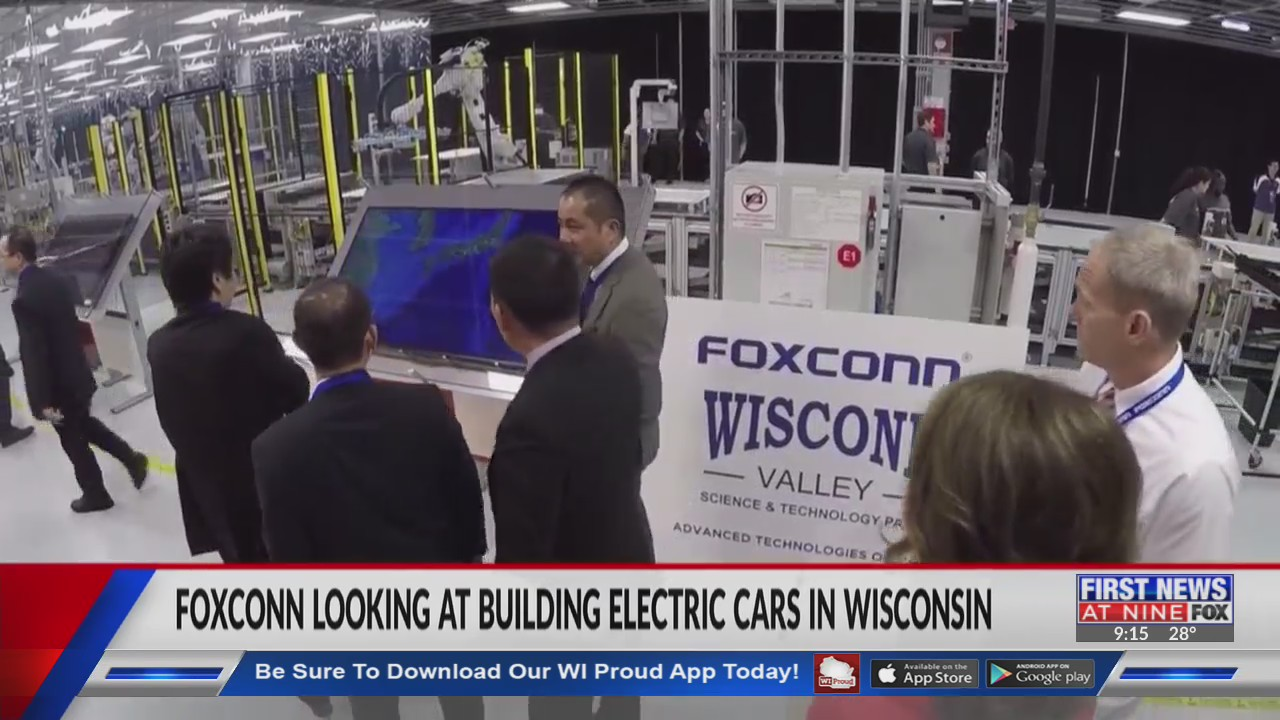 Foxconn looking at building electric cars in Wisconsin