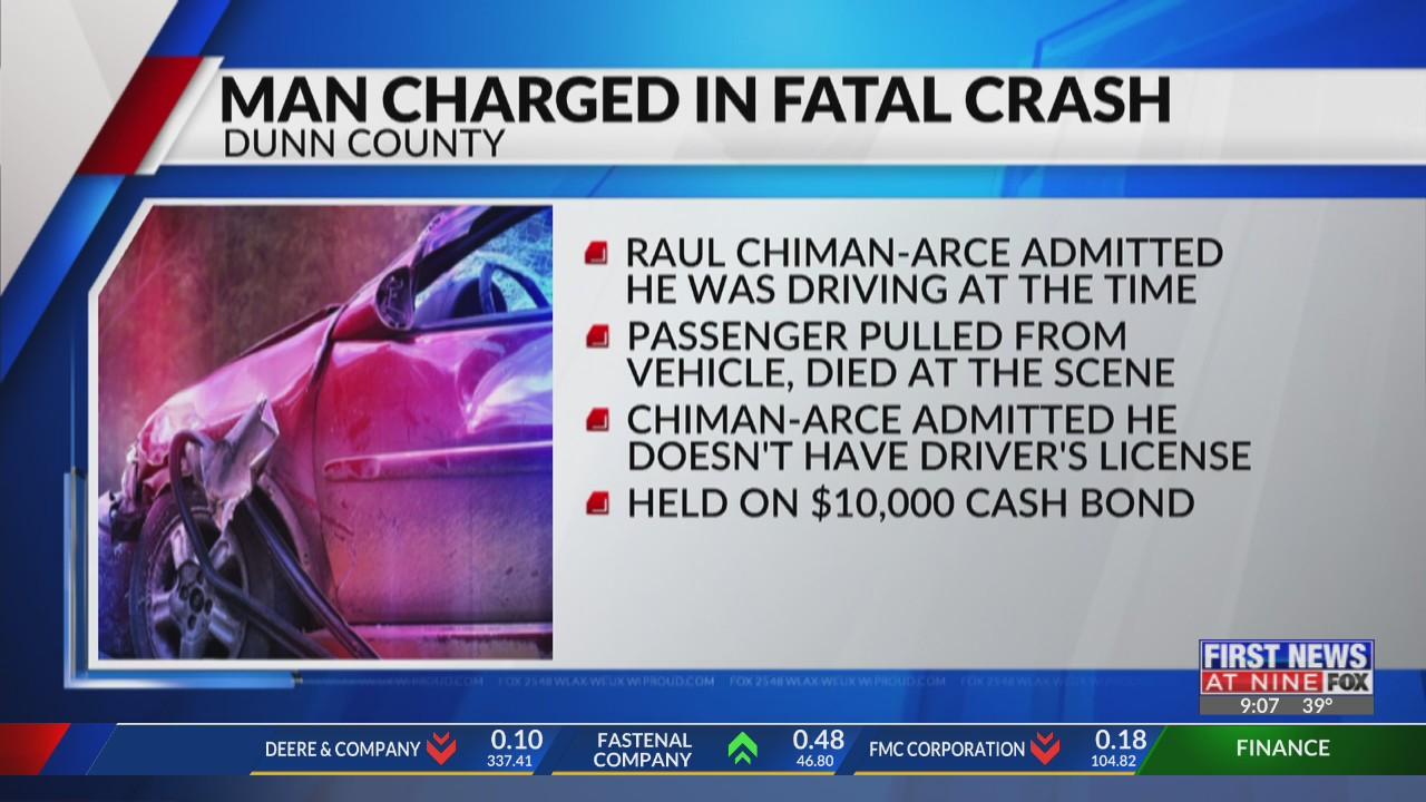Man charged in fatal Dunn County car crash