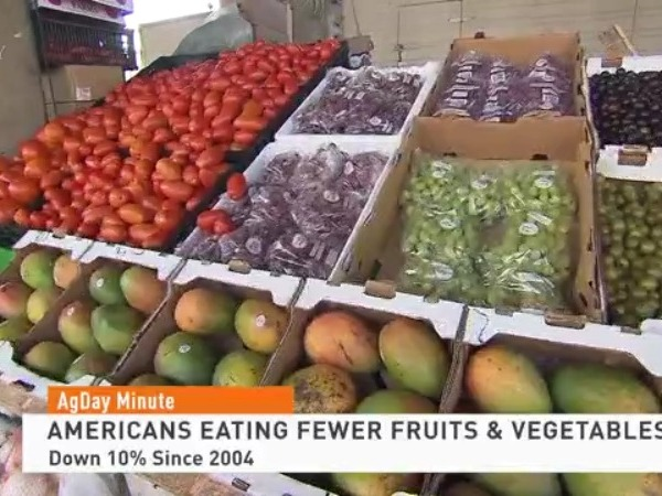 Americans eating fewer fruits & vegetables