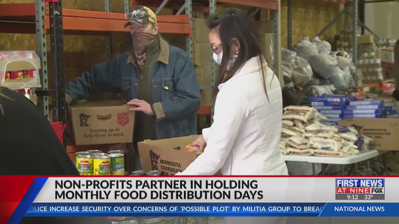 Non-profits partner in holding monthly Food Distribution Days