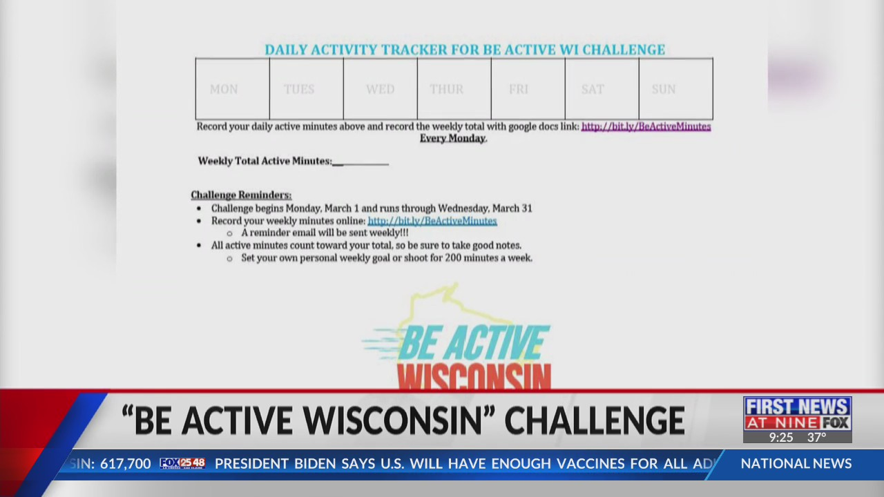 "Represent Eau Claire in the ""Be Active Wisconsin"" challenge"